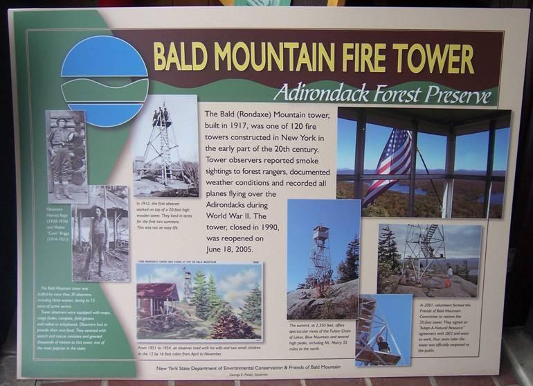 Bald Mountain Fire Tower 2008 Progress Report
